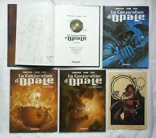 Lot BD - La conjuration d'Opale 1 à 4 + dédicaces + ex-libris / EO / CORBEYRAN