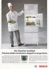 BOSCH KÜHLSCHRANK FRIDGE ANNONCE PUBLICITAIRE1990 GERMANY ADVERT COUPURE MAG