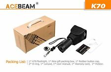 Acebeam K70  LED CREE XHP35 1300m  Linterna 2600lm Led Torch Throw King