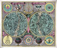 1772 Celestial Map Chart Astronomy Diagram Wall Poster Art Print Home Decor