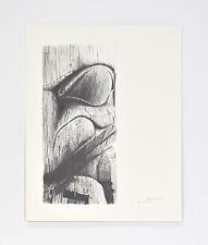 """Val Malesku Bear Totem Pole Haida Print 17"""" x 13"""""""