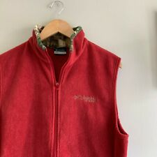 Columbia RealTree PHG Hunting Fleece Vest Red Size Small