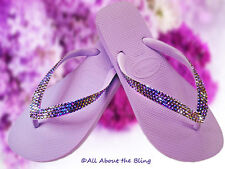 Crystal flip flops HAVAIANAS using SWAROVSKI CRYSTALS COLOR exclusive design