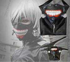 Cosplay Tokyo Ghoul Kaneki Ken Adjustable Zipper Masks PU Leather Cool Mask U タ