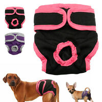 Dog Shorts Sanitary Pants Heat Hygiene Adjustable Waist Washable S M L XL