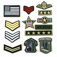 13Pcs Iron Sew on Patch Military Army Soldier Rank Insignia Embroidered Badge