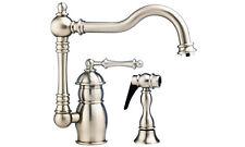 Blanco 402841 Ritz Single Bar Kitchen Island Faucet With Side Spray Chrome