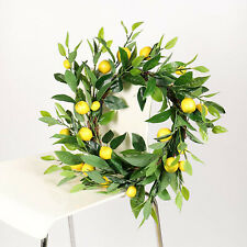 Artificial Lemon Wreath Wall Decoration Yellow   Flower Crafts Gifts Garland