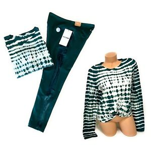 Victorias Secret PINK 🎀 Tshirt Tee High Waist Ankle Leggings Pants Set Large