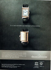 Publicité Advertising 078  2012  montre Jaeger-Lecoultre  reverso Ultra Thin