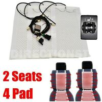 for TOYOTA PRADO 2 Seats Car Carbon Fiber Heated Seat Heater Kits 5 Switch 12V