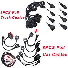 8x Car Cables & 8x Truck Cables For Autocom TCS CDP+DELPHI DS150 Diagnostic Tool