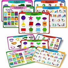 New listing Teytoy Kids Placemats Set Of 5, Laminated Toddler Educational Learning Table Eat