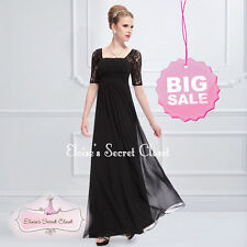 Square Neck Lace Formal Maxi Dresses for Women