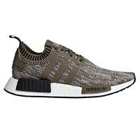 Adidas NMD R1 Primeknit Mens AQ0929 Sesame Branch Black Running Shoes Size 11