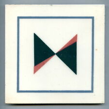 """Screen printed 6""""sq Mid-Century Modern tile by H&G Thynne, 1956"""