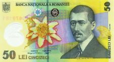 More details for romania, 50 lei leu banknote note 2005 polymer eagle airplane unc specimen new