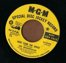 The Magistrates - Here Come The Judge - Mgm soul novelty Promo 45