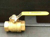 "NEW ~ PROCHANNEL 1"" BRASS BALL VALVE ~ 600 WOG / 150 WSP ~ THREADED ENDS"
