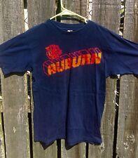 Vintage 1980's Artex Auburn University Tigers ORIGINAL Dark Blue Sz Medium SHIRT