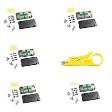 5x Netzwerk Verlängerung Verbindungsmodul LSA Verbinder Cat.6A Cat.7 geschirmt