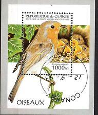 0092+ TIMBRE GUINEE  BLOC  OISEAUX    1995