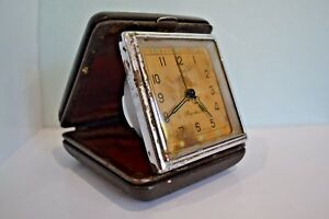 First Moscow Watch Factory Vintage Soviet Travel Wind Up Alarm Clock lot
