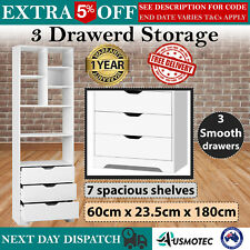 3 Drawers Storage DVD CD Photos Books Shelf Cube Unit Rack Furniture Display