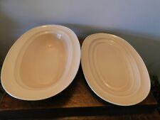 More details for vintage beige serving plate & dish branksome china date 1945 -1956