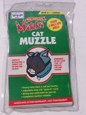 Mikki Nylon Cat Muzzle - Size 2, Large Cats, Training, Grooming - New