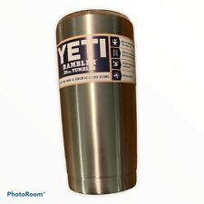 YETI Rambler 20 oz. Tumbler Stainless Steel Silver w/ Clear Lid, New,