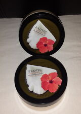 2 Bath and Body Works Pleasures Exotic Coconut Body Butter 7oz Lotion Cream READ