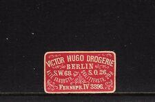 402882/ Siegelmarke - Victor Hugo Drogerie - Berlin S.W.68 und S.O.26