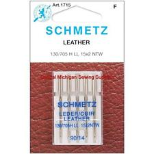 Schmetz Leather Sewing Machine Needles 15x2 Size 14 Singer Kenmore White Elna