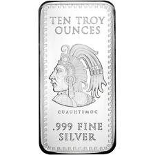 10 oz. Golden State Mint Silver Bar Aztec Calendar .999 Fine