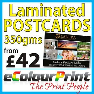 Laminated Gloss Postcards / Flyers / Leaflets A5, A6, A7 on 350gms - Full Colour
