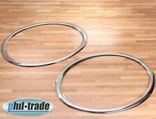 Chrom Scheinwerfer Ringe Rahmen Umrandung Blenden aus Edelstahl für Nissan Juke