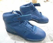 "New Balance ""696"" High-Top Blue Leather Sneakers / Korea / 10.5 D / Deadstock"