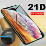 21D Curved Tempered Glass Full Screen Protector Film For iPhone 11 Pro Max XS XR