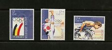Belgium 2000  #1808-10  olympics taekwando wheel chair racing 3v.  MNH  K405