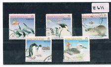 Australian Antarctic Territory  1988 Wildlife 5 Values Sheet Fine Used   E 611