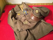 WW2 9th USAAF Paratrooper glider Uniform and Visor hat troop carrier smock Jump