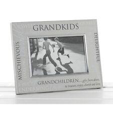 Satin Silver Sentiment Grandkids Grandchildren Photo Frame 70900