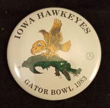 "Original Collectible Souvenir Iowa Hawkeyes Football 1983 Gator Bowl 3"" Pin"