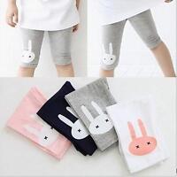 Toddler Kids Girls Baby Cotton Pants Rabbit Stretch Warm Leggings Trousers LG