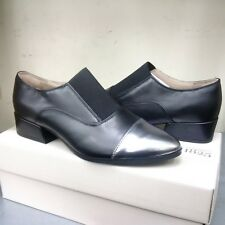 Clarks Narrative Ray Chic Black/Silver Leather NEW WITH BOX