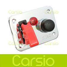 12v Ignition Push Button Start Starter Switch Panel Track/rally/car/boat 25a