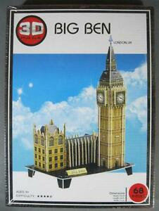 New BIG BEN London England 3D PUZZLE MIB complete 68pc kids gift