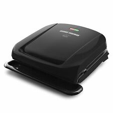 George Foreman GRP1060B 4-Serving Panini Press with Removable Plate - Black