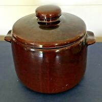 Vintage 1950's West Bend Bean Pot Genuine Ceramic Stoneware With Lid, Made USA